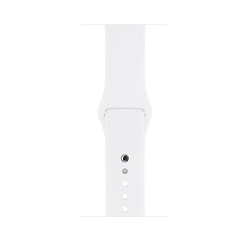 Apple watch series 2 42mm ALUMINUM Case SPORT (Silver Aluminum Case with White Sport Band) by Apple (Image #3)