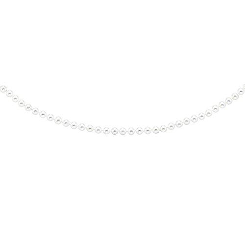 6.5 mm jaune 14 carats avec perles d'eau douce Blanc Perles 7 Inc-JewelryWeb