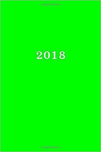 2018: Kalender/Terminplaner: 1 Woche auf 2 Seiten, Format ca. A5, Cover grün: Volume 6
