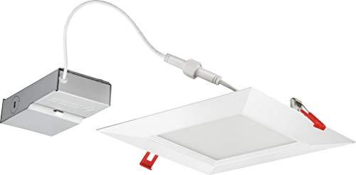 Lithonia Lighting WF8 SQ B 35K MVOLT 90CRI MW M6 LED Multi-Volt Ultra Thin Recessed Downlight, 3500K, White