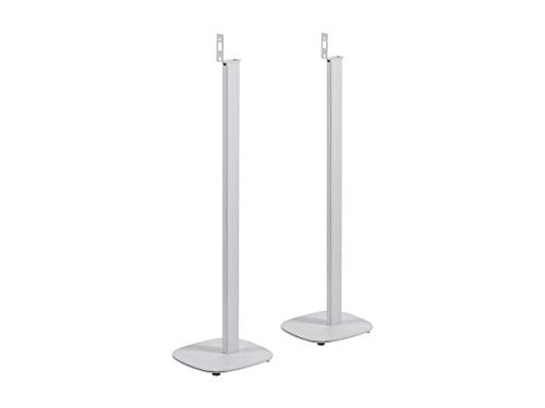 Monoprice Floor Speaker Stands for SONOS Play: 1 White (Pair)