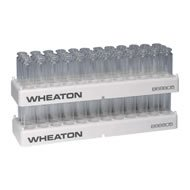 Wheaton Science Products 868805 36-Position Vial Rack for 6 mL, 10 mL, 20 mL Headspace 23 mm OD Vials (Pack of 5)