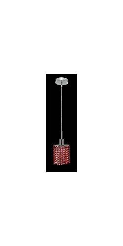 Chrome Bordeaux Pendant Lighting (Mini Bordeaux Crystal Pendant w 1 Light in Chrome (Strass Swarovski))