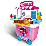 (Gizmovine Ice Cream Toy Pretend Food Truck Toy Play Set Ice Cream Cart for Toddler Girls 4,3,2 year old (31 pcs) )