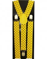 40's Mobster Costumes (Outer Rebel Yellow with Black Polka Dot Suspenders)