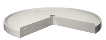 28'' Pie Cut (Replacement) Lazy Susan Shelf-White by Rev-A-Shelf