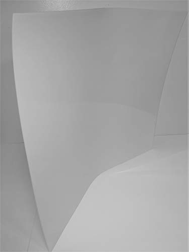 2 Flexible Translucent PE Plastic Sheet 25x23x1/16 (0.06) DIY Stencil Pattern from Henta