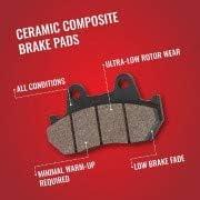 CPG Premium Ceramic Brake Pad Set fits Rear 2016 Lexus NX200t