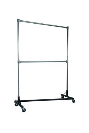 Quality Fabricators Original Z-Rack : Double Rail - 5' Base x 7' Uprights Black