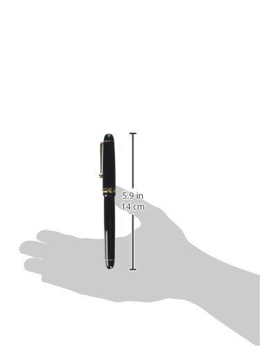 Pilot Fountain Pen Custom 74, F-Nib, Black Body (FKK-1000R-B(-F)) by Pilot (Image #1)