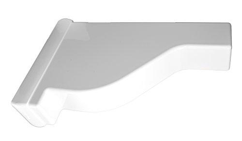 Finials 2 - White PVC Vinyl Pergola Finial Cap For A True 2 Inch X 8 Inch Rail   Single Pack   AWCP-FINIAL-2X8