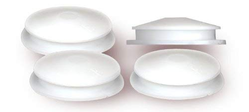 National Artcraft White PVC Closure Plug fits 1-5/8 Inch Hole for Coin Banks or Salt Shakers (1 Pkg/10)