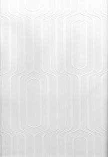Brewster Pitch Geometric Ogee Paintable Wallpaper Paintable