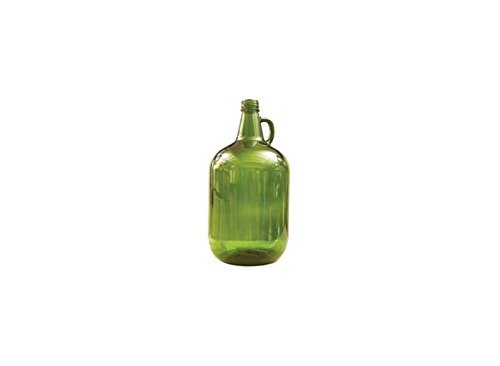 Glass Bottles - 4 L Green Jug with Handle - Case of 4