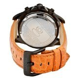 Invicta Grand Diver Chronograph Black Dial Orange Leather Mens Watch 14928 (Invicta Grand Diver Chronograph)