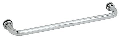 - CRL Chrome Finish Single-Sided Regular Style 24 Inch Towel Bars for Glass
