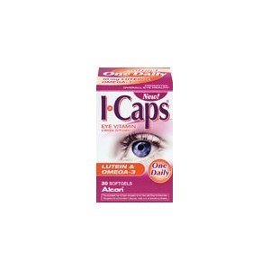 I Caps Lutein Omega-3 Vitamin 30 CT, (PACK of 6) by Alcon