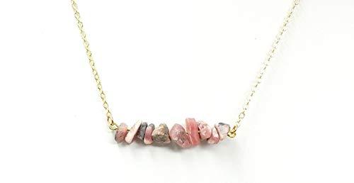 Rhodochrosite Inca Rose Bar Necklace