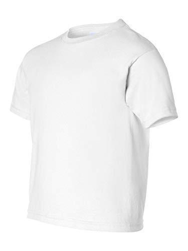 Gildan boys Ultra Cotton T-Shirt(G200B)-WHITE-M (Tshirt Youth Gildan)