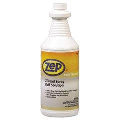 Zep Professional Z-Tread Buff-Solution Spray, Neutral, 1qt Bottle - 12 bottles.
