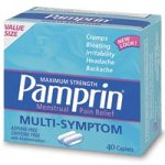 Force maximale Pamprin Multi-Symptom Relief Comprimés menstruels, 40-Count Boxes (Pack de 3)