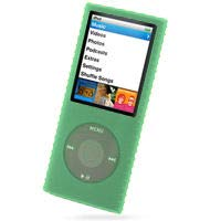 HD Accessory Super Grip Silicone Skin Case for 4th Generation iPod Nano - Green (Ipod Nano Click Wheel 4th)