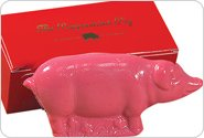 Saratoga Sweets Peppermint Pig 8oz NOEL In Gift Box