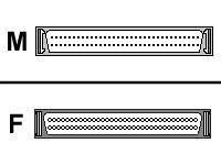 Internal SCSI Terminator Din68m Din68f Single Ended Active