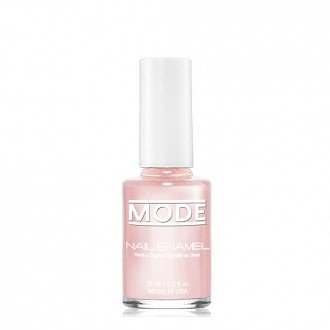 Mode Nail Enamel (Sheer Baby Pink Champagne Soft Frost Pearl - Shade #175) .50 FL OZ Long Wear, High Gloss, Chip Resistant, Cruelty-Free and Vegan, Salon Nail Polish Formula Made in Beautiful NY USA