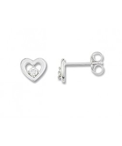 OR by Stauffer - Boucles d'oreilles or gris 375/1000, diamants by Stauffer