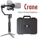 Zhiyun Crane (Updated v2) 3-Axis Handheld Gimbal Stabilizer for Mirrorless, DSLR Cameras up to 3.9 lbs