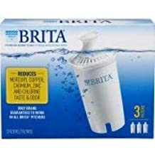 Brita Water Filter Pitcher Replacement Filters, 3 Count (Advanced)