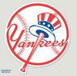 New York Yankees 8x8 (Tophat) Color Die Cut Window Decal