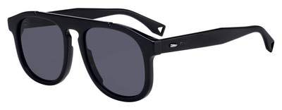 (Sunglasses Fendi Men Ff M 14 /S 0807 Black/IR gray blue)