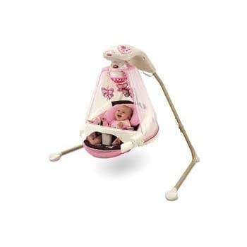 fisher price baby cradle swing sugar plum stationary baby swings baby. Black Bedroom Furniture Sets. Home Design Ideas
