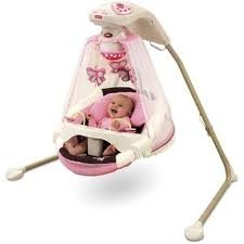 Fisher-Price – Papasan Cradle Swing, Mocha Butterfly