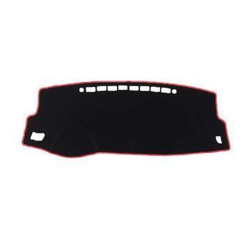 (Polyester Non-Slip Car Dash Mat Dashboard Cover Pad Sunshade Dashmat for Toyota Corolla 2014-2018 - Interior Accessories Dash Mats - (Red))