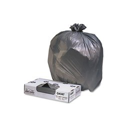 Jaguar Plastics G4347HBL LLDPE 56 Gallon Can Liner, 1.7 Mil, Star Seal, 47'' x 43'', Black (Case of 100)