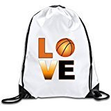 Discovery Wild Love Basketball Polyester Drawstring Backpack Rucksack Shoulder Bags Gym Bag Home Travel Sport Storage Use