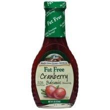 Maple Grove Farms Fat Free Cranberry Balsamic Vinaigrette Dressing, 8 Ounce - 12 per case