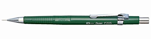 Pentel Sharp Automatic Pencil, 0.50 mm, Green Barrel (P205D) (Automatic E-sharp Pentel Pencil)