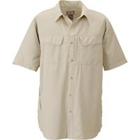 Gravel Gear UPF 30 Quick-Dry Polyester Ripstop Shirt - Short Sleeve, Sandstone, Large;l