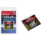Transcend TS128MCF100I FLASH MEMORY CARD - 128 MB - COMPACTFLASH CARD - 3.3 / 5 V - 100X 40 MB/S (WRITE ()