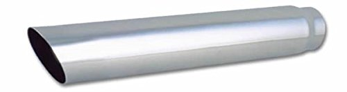 Vibrant 4in Round SS Truck/SUV Exhaust Tip (Single Wall Angle Cut) - 2.5in inlet 20in long (1555)