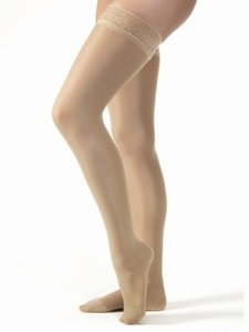 BSN Medical/Jobst 119549 Ultra Sheer Compression Stocking|,| Thigh High|,| 20-30 mmHg|,| Closed Toe|,| Anthracite|,| X-Large|,| Pair