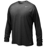 (Nike 384408 Legend Dri-Fit Long Sleeve Tee - Black, Medium )