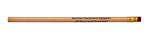 Pencil Guy Promotional Personalized Imprinted Round Pencils.-1000 per Box Natural]()