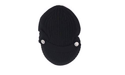 Michael Kors Cableknit Newsboy Hat With Silver ButtonsBlack