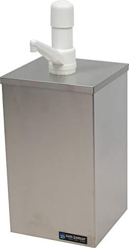 - San Jamar P9810 Condiment Pump Box Dispenser (for #10 Can or Jar)
