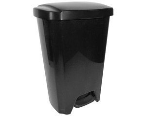 13-gallon Trash Can Lid Waste Garbage Step on Hands Free Sturdy. Outdoor Kitchen Garage Home Office Black Cheap (1)